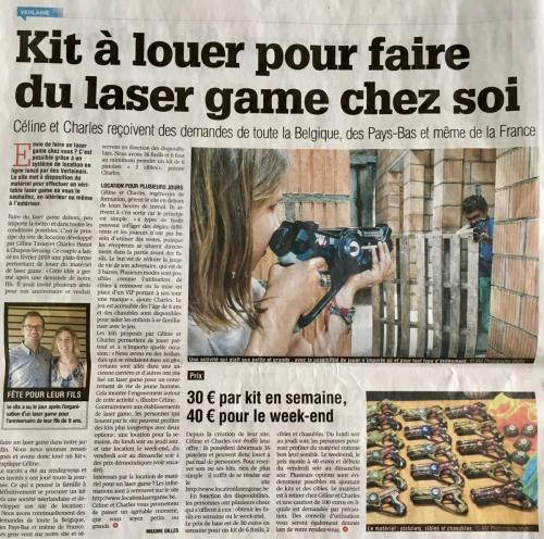 Article Location Laser Game La Meuse Huy-Waremme